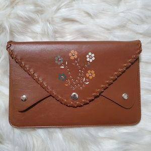 Cognac Envelope clutch